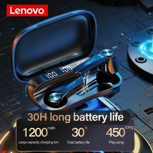 Image 2 - Lenovo QT81 Wireless Headphones TWS True Bluetooth Earphone Touch Control LED Display Big Battery 1200mAh Charging box