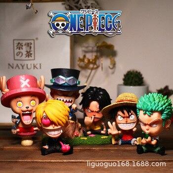 Q version Anime One Piece figure one piece Roronoa Zoro Luffy Ace sabo Sanji BROOK Nami Franky Chopper PVC Action Figure toys недорого