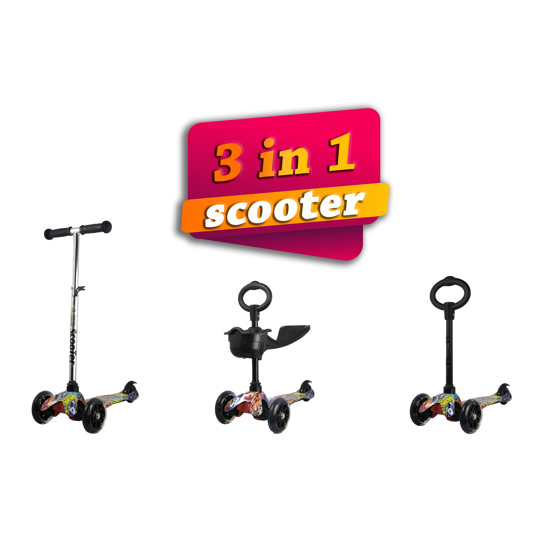 Kenrod 3-Wheel Scooter For Children Between 3 And 10 Scooter