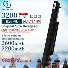 Golooloo 3200 mAh 4 komórki bateria do laptopa asus A31 K56 A32 K56 A41 K56 A42 K56 A56CM A56V A46C K46 K56 A46C A56 R505C s56c