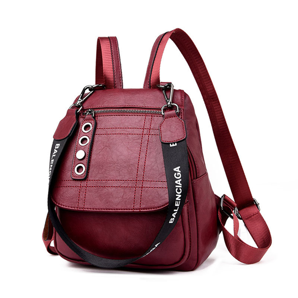 2019 3-in-1 Women Leather Backpacks Female Shoulder Bag Sac A Dos Travel Ladies Bagpack Mochilas School Bags For Girls Preppy