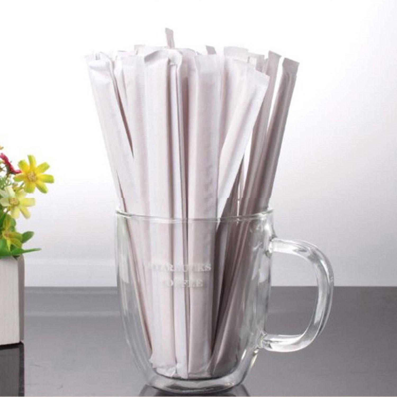 Behogar 100PCS Wooden Coffee Tea Beverage Stir Sticks Stirrers For Home Office Restaurant Parties Travel Camping Picnics 14cm