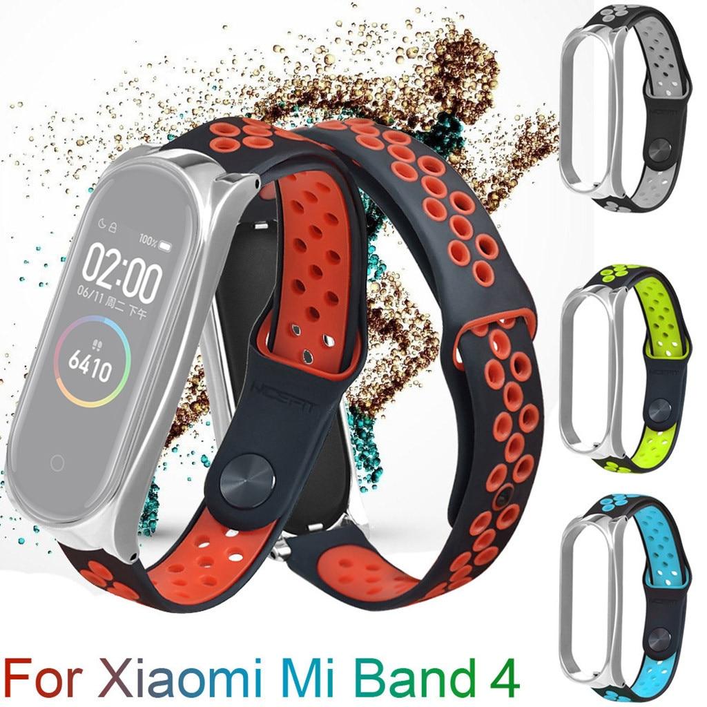 Silikon saat kayışı için Xio mi Xao mi mi bant 4 band4 bileklik İzle sapanlar bilezik de montre yedek izle sapanlar