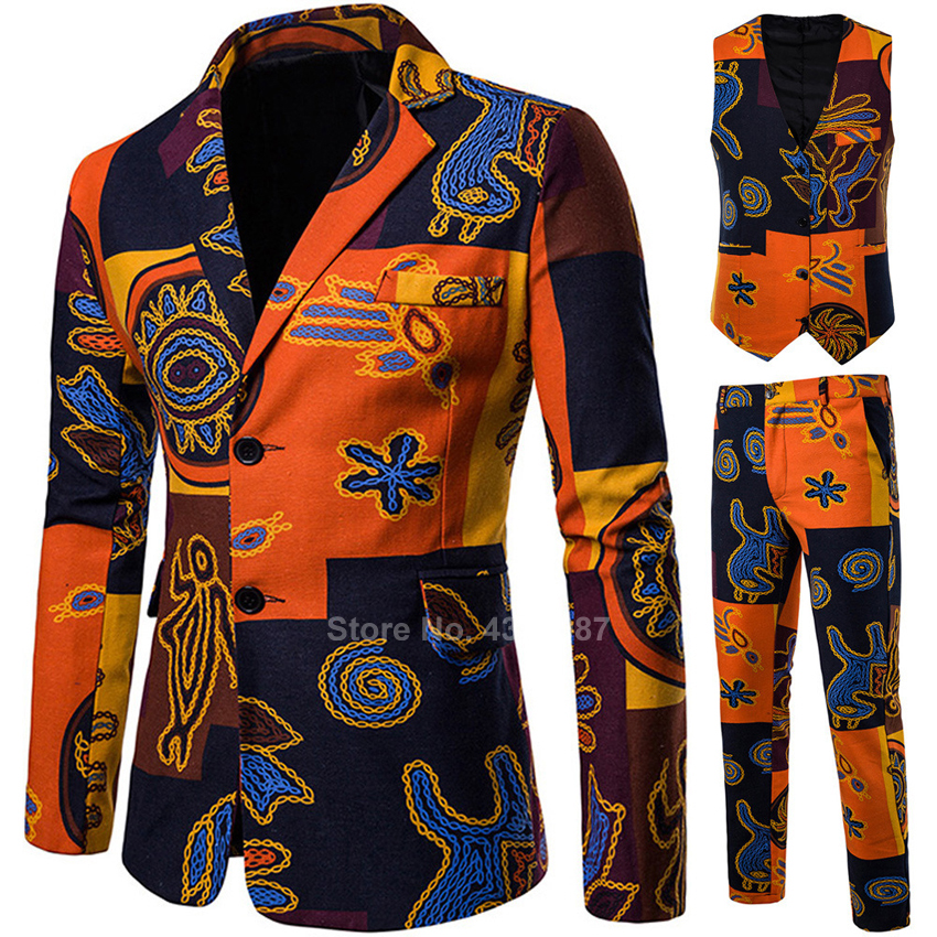 2020 <font><b>News</b></font> African Clothes Men Jacket Autumn Full Sleeve Dashiki Print Coat Bazin Riche African Dresses for Women/men Fashion image