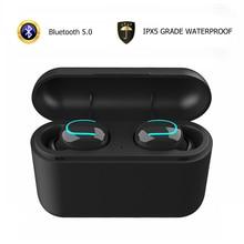 цена на True Wireless Earphones IPX5 Waterproof Mini In-ear Bluetooth Headphones Sports Earbuds Gaming Headset Charging Box