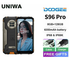Doogee s96 pro áspero telefone helio g90 octa núcleo 8 + 128gb nfc 6350mah smartphone 20mp câmera de visão noturna infravermelha celular