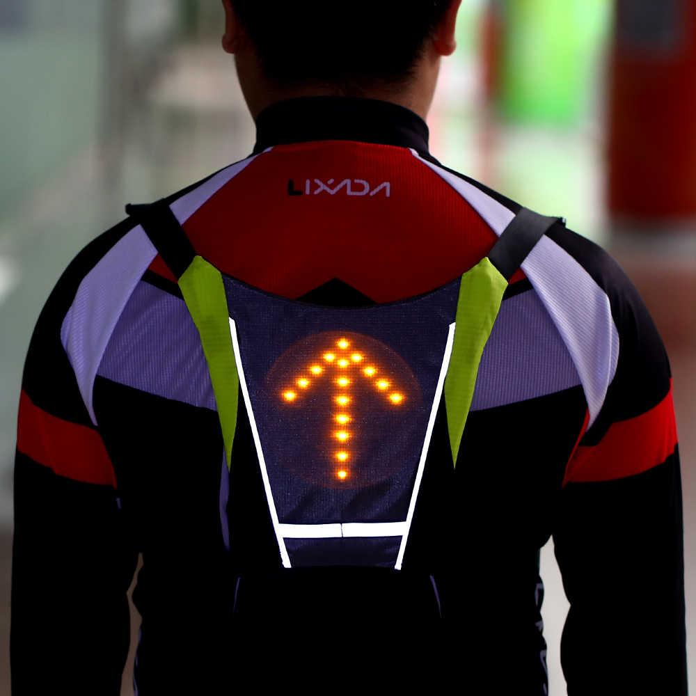 Gilet de Cyclisme USB Rechargeable R/éfl/échissant Sac /à Dos de v/élo /étanche pour Cyclisme Courir Marche Jogging Lixada Gilet de Cyclisme /à LED
