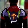 Lixada Велоспорт USB Перезаряжаемый светоотражающий жилет рюкзак с светодиодный указатель поворота пульт дистанционного управления уличный с...