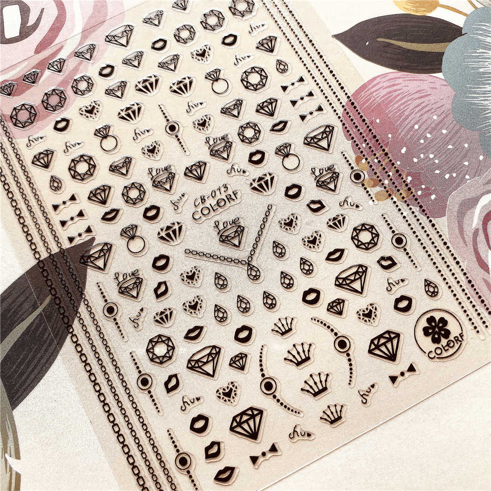 Cb-013-045-081 Diamond Geometrische Vorm 3D Terug Lijm Nail Decal Nail Sticker Nail Decoratie Nail art Nail Tool Nail Ornament