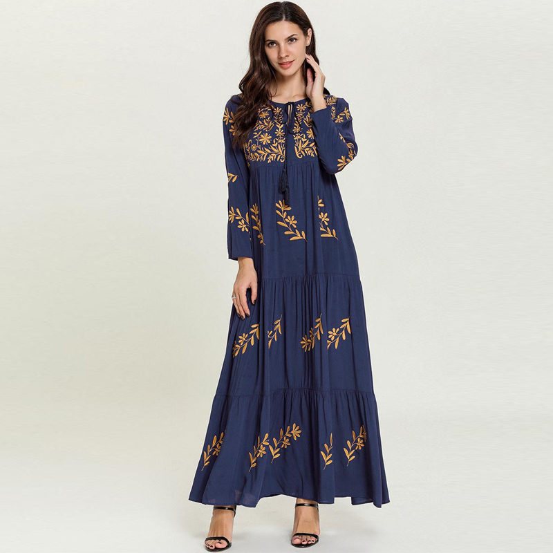Vestidos Compridos Dubai Abaya Kaftan Morocco Arabic Muslim Dress Turkey Caftan Turkish Hijab Dresses Robe Musulmane Longue Arab