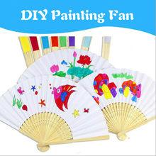 1pc crianças diy desenho ofício cor fã crianças aprendendo brinquedo de desenho educativo com jardim infância criativos graffiti crianças zxh