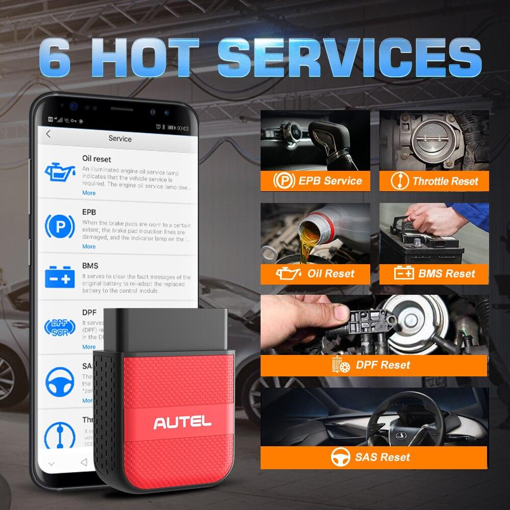 cheapest Newest Version Autel AP200M Bluetooth OBD2 Scanner Full Systems OBDII Car Diagnostic Tool PK AP200 MK808 Thinkdiag Easydiag 3 0