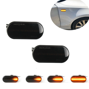 Image 2 - 2Pcs Led Dynamische Side Indicator Marker Signal Light Lamp Sequentiële Knipperlicht Voor Vw MK4 Jette Bora Golf 3 4 Lupo Passat