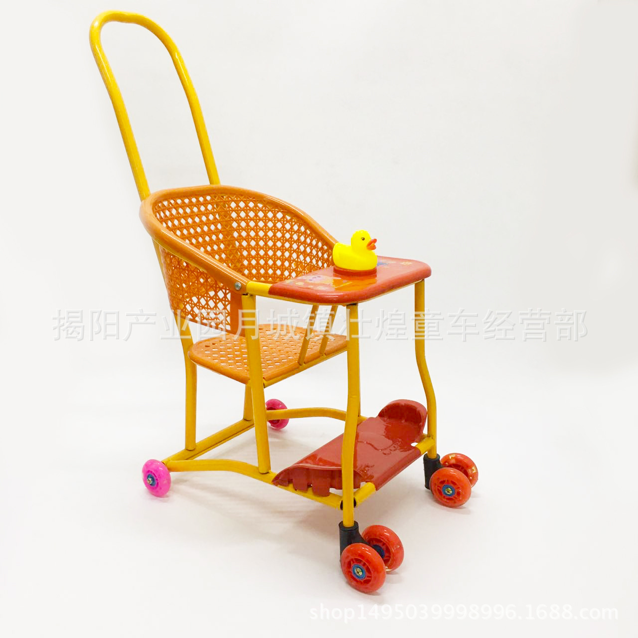Ultra-lightweight Chinese Traditional Imitation Rattan Baby Stroller Universal Wheel Toddler Trolly Car Sit Baby Small Stroller