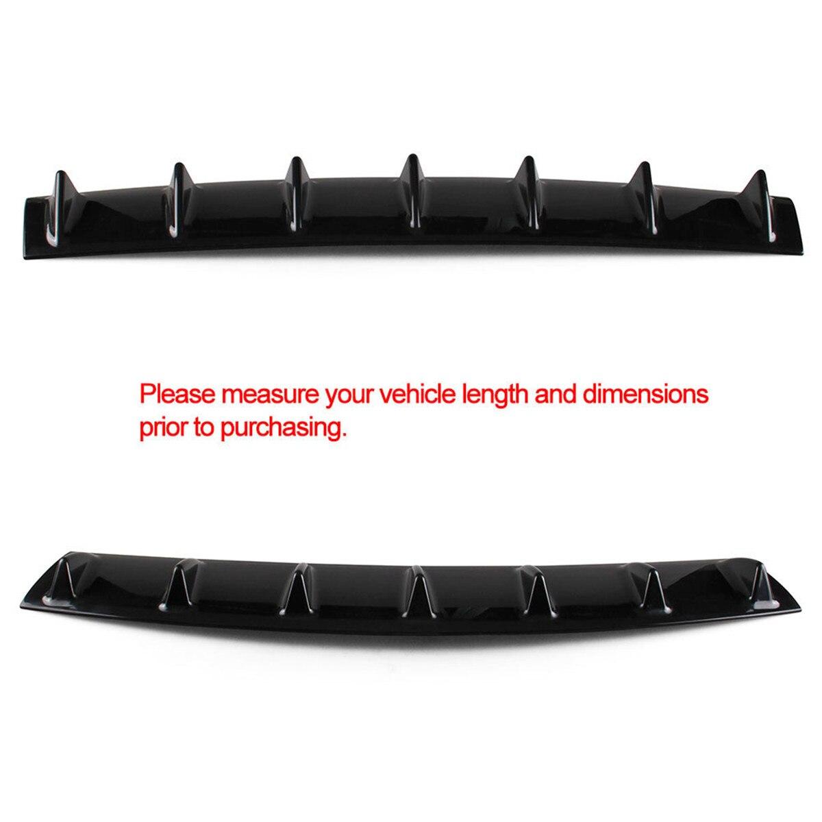 "23/""x6 Ikon style universal Rear hinten stoßstange lip diffusor 5 fin gloss black"