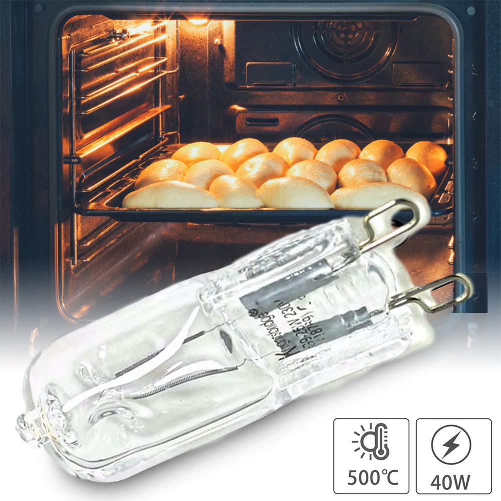 Lâmpada durável resistente de alta temperatura do bulbo do halogênio da luz do forno g9 para ventiladores dos fornos dos frigoríficos 40w 500 bulb bulbo do pino