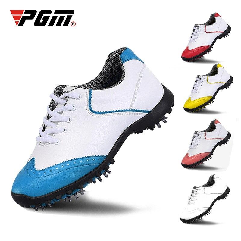 Pgm/обувь для гольфа; Женская водонепроницаемая Спортивная обувь для гольфа; женская обувь с перфорацией типа «броги»; дышащие спортивные кр