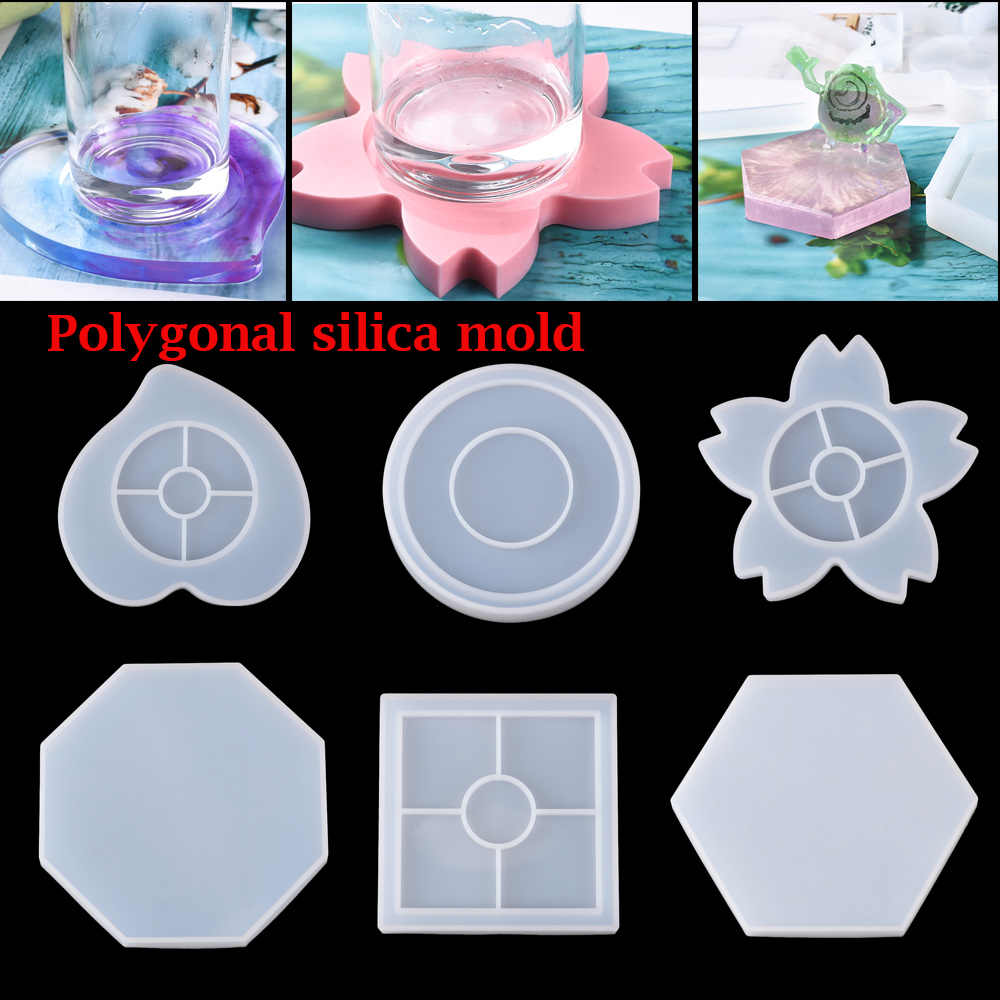 Polygon Handmade Epoxy Casting Silicone Moulds Resin Molds Crystal Epoxy Mold