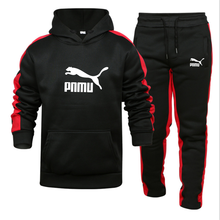 2021 men's autumn and winter two-piece hoodie + sweatpants cotton top basketball sportswear suit street hip-hop clothing