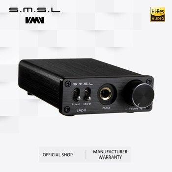 SMSL SAP II портативный усилитель для наушников TPA6120A2 большой мощности HiFi Fidelity стерео усилитель для наушников с 2 выходами переключения