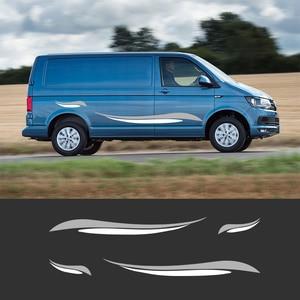 2 шт. автомобильные виниловые боковые полосы наклейки Авто графика наклейки для Volkswagen T5 T6 транспортер Ван
