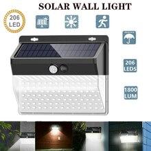 206LED Solar Light Outdoor Led Solar Lamp Motion Sensor Wall Light Waterproof Solar Powered Sunlight for Garden Decoration