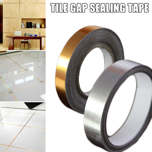 Image 2 - 100メートル2ロールセラミックタイル防かびギャップテープ5ミリメートル、10ミリメートル、20ミリメートルゴールドシルバー黒テープ自己粘着pvc床家の装飾テープ