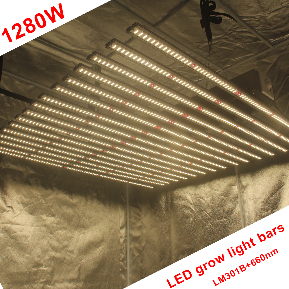 New Product Easy Assembly Samsung Lm301b 1280w Fluence Led Grow Light Strip Bar For Indoor Garden Greenhouse