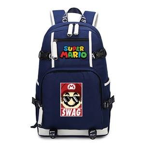 Image 5 - סופר מריו תרמיל נסיעות כתף מחשב נייד שקיות אנימה Backbag בני נוער ילדים בית ספר תלמיד שקיות תיק של