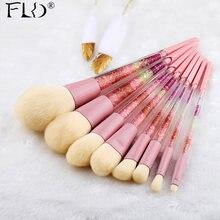 Набор цветных профессиональных кисточек для макияжа fld 8 шт