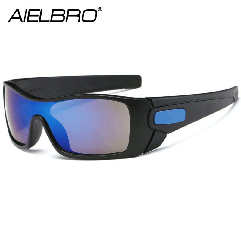 AIELBRO Fashion Sunglasses Men Sport Sunglasses UV400 Protection Golf Sun Glasses Women Driving Cycling Glasses Fishing Eyewear