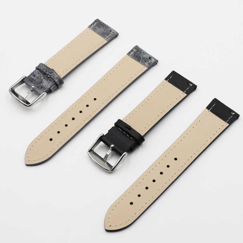Onthelevel אמיתי עור שעון רצועת 18 19 20 22 24mm שחור חום רצועת השעון עבור Tissot Seiko אביזרי צמיד # F