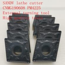 SANDV high quality lathe tool CNMG190608 PM4225 carbide tool, external turning CNC R0.8 semi-finishing