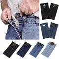 1 шт. джинсы унисекс длина пояса брюк расширитель пояс расширитель кнопки упругой регулируемый обхват талии, на пуговицах, с поясом, расшире...