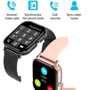 Image 2 - ساعة ذكية مع شاشة IPS مقاس 1.75 بوصة للرجال والنساء ، مقاومة للماء ، مع التحكم في معدل ضربات القلب وضغط الدم ، لأجهزة Android و Iphone