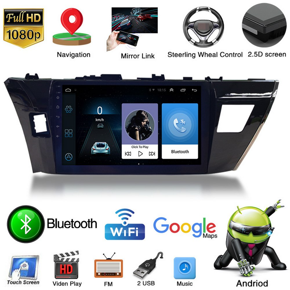 1+16G Android 9.1 <font><b>Car</b></font> Radio Multimedia Player for Toyota Corolla 2014-2017 Navigation <font><b>GPS</b></font> 2 Din 12V image