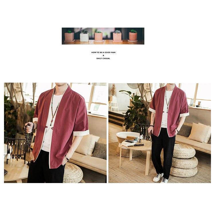 Sinicism Store Men Patchwork Shirt Streetwear Short Sleeve 19 Summer Harajuku Vintage Kimono Shirts Black Fashion Open Stitch 29