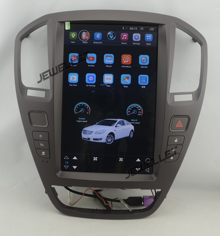 """12.8"""" tesla style vertical screen Quad core Android 6.0 Car stereo gps navigation for Buick Regal, Opel Vauxhall Holden Insignia