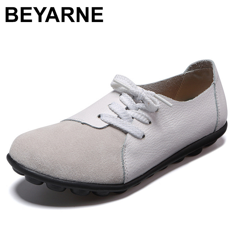 BEYARNE Fashion Plus Size Women Shoes Woman Flats Spring Summer Ladies Shoes Woman Ballet Flats Loafers Zapatos Mujer Size35-43