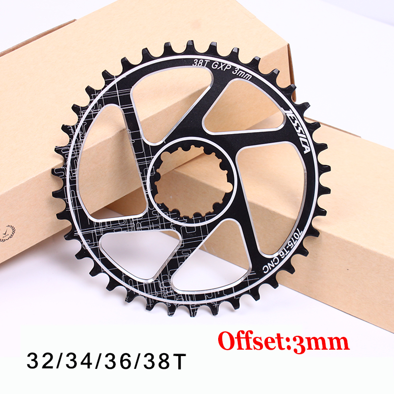 GXP 32-38T Narrow Wide MTB Road Bike Chainring 3mmOffset Single Round Crankset