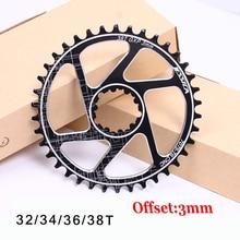 MTBจักรยานห่วงโซ่GXP Fixed Gear Offset 3Mmแคบกว้างMountain Chainแหวน 32T 34T 36 38T Fit XX1 X9 XO X01 BB30 จักรยานCrank