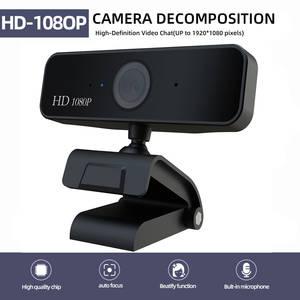 Webcams Microphone Computer-Camera Auto Focus 1920--1080 Dynamic-Resolution 5MP USB HD