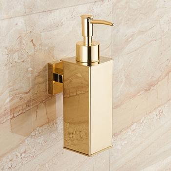 304 ze stali stalowy dozownik do mydła montowany na ścianie ręcznie dozownik do mycia do łazienki chromowane złoto poszycia mydło w płynie dozownik tanie i dobre opinie QINGYU ELEVEN CN (pochodzenie) Dozownik do mydła w płynie NONE Dozownik mydła w płynie 00006 Dozowniki na mydło w płynie