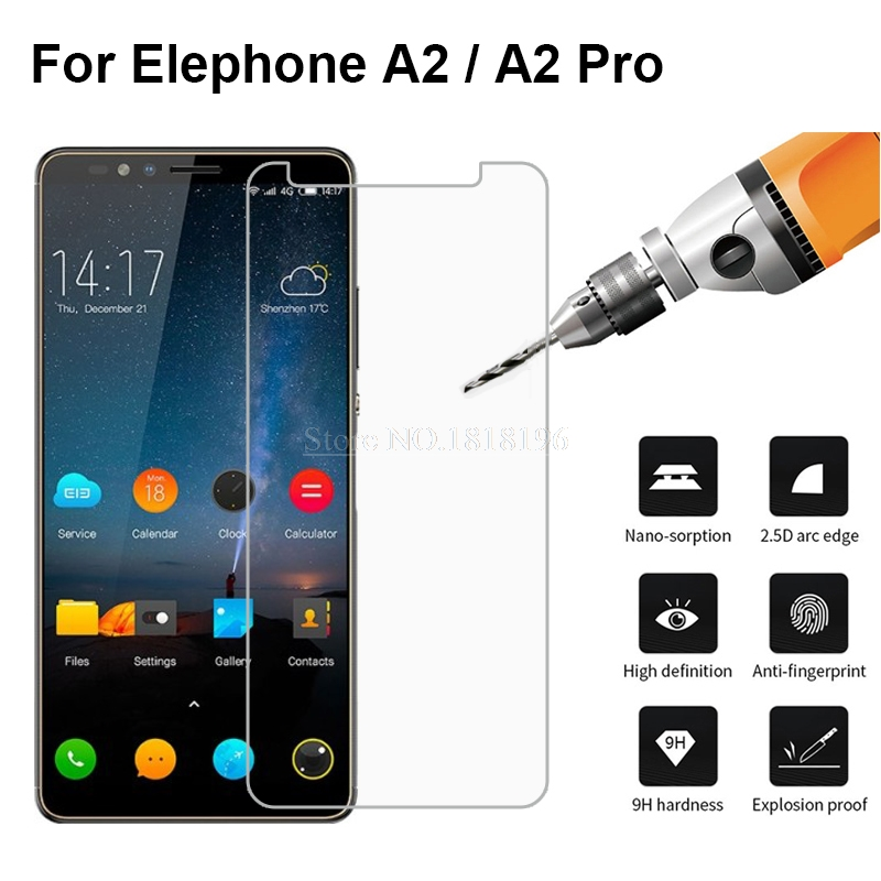 For Elephone A2 Pro Tempered Glass 9H 2.5D Protective Explosion-proof Glass Phone Film For Elephone A2 Glass Screen Protector