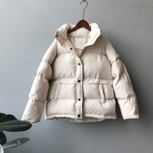 2020 Women Thick Winter Coat Loose Stand Collar Women Jacket