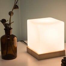 Скандинавская деревянная настольная лампа современные прикроватные