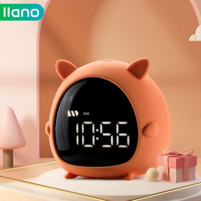 Alarm Clock Kids Child Children Sleep Bedside Alarm Clock Digital Wake Up Temperature Snooze Timer Clock for Bedroom/Table/Desk 1