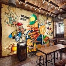 milofi custom large wallpaper mural retro nostalgic music barbecue string restaurant tooling background