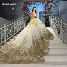 HTL927 afrikanische gold hochzeit kleider halter abnehmbare hohe schulter kette glänzende perlen für braut bestidos свабедное платье