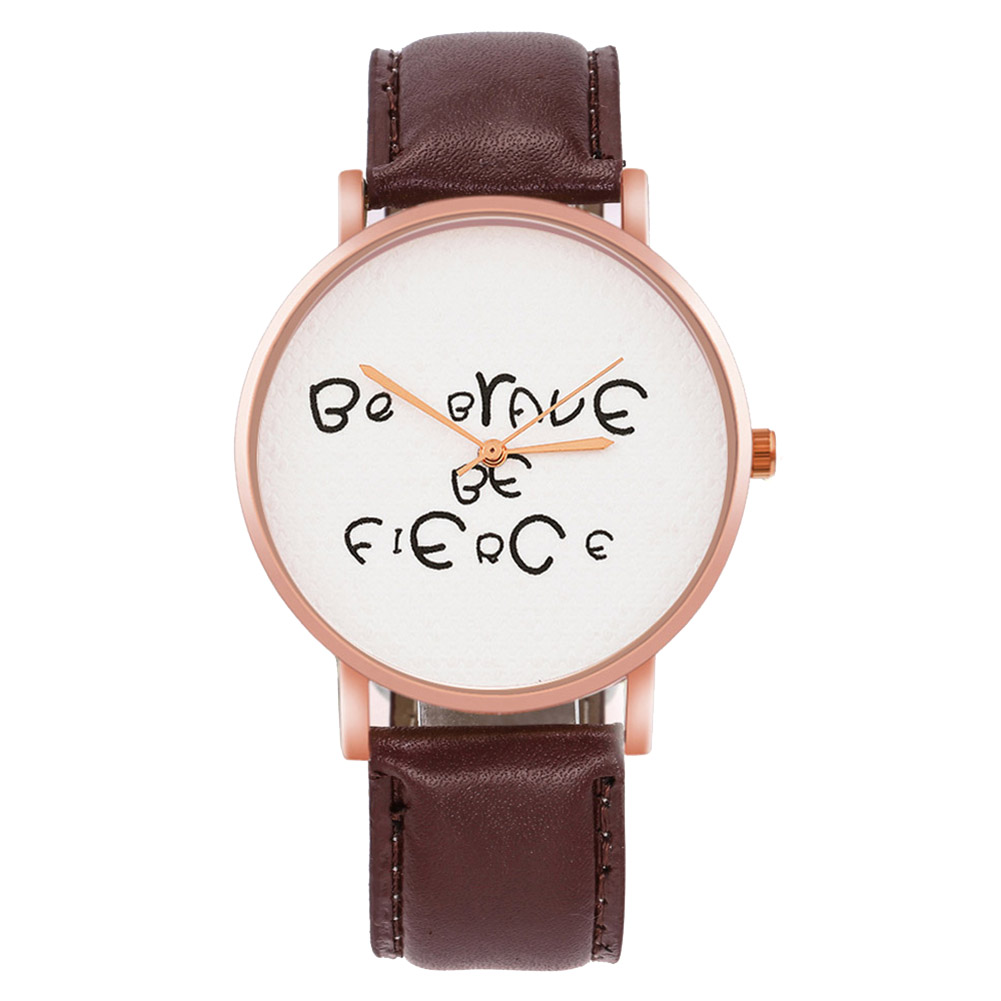 Quartz Watch Leather Strap Korean Couple Watches Round Dial For Gifts Men Women  LL@17